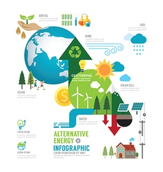 Infographic eco energy of the world concept vector