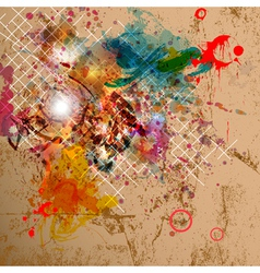 Abstract background with grunge design vector image vector image