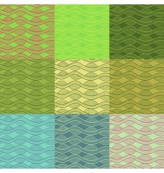 Abstract seamless pattern collection in retro vector image vector image