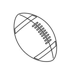 american footbal ball sport equipment vector image