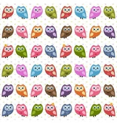 Background with owls and owlets vector image vector image