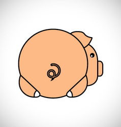 Backside of a pig vector image vector image