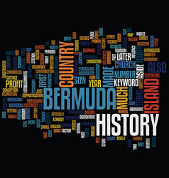 Bermuda hotels text background word cloud concept vector