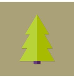 Big christmas tree flat icon vector