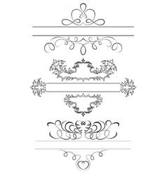 Calligraphic Set vector image vector image