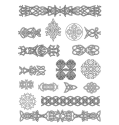 Celtic ornaments and patterns set for embellish vector image