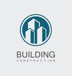 circle building construction logo vector image