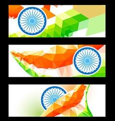 creative indian headers vector image vector image