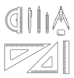 drawing instrument vector image