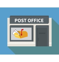 flat post office and mail box vector image vector image