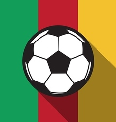 Football icon with cameroon flag vector