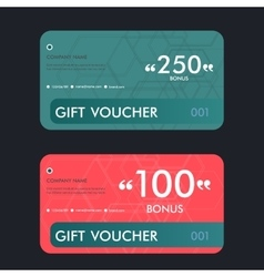 Gift voucher template with vector image