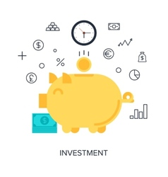Investment vector image