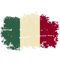 Italian grunge flag vector image