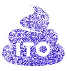 Ito shit icon grunge watermark vector