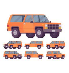 Orange offroad set vector