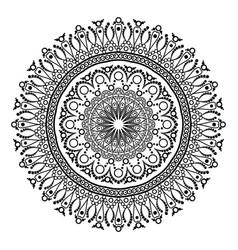 Ornament black white card with mandala Ornamental vector image vector image