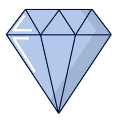 Precious stone icon cartoon style vector