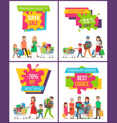 premium quality super sale set vector image