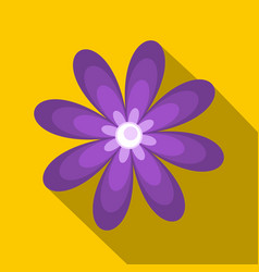Purple flower icon flat style vector