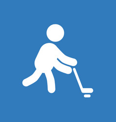silhouette of athlete practicing hokey vector image vector image