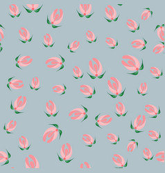 Slavic seamless pattern of buds vector