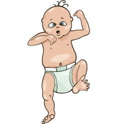 Surprised baby vector