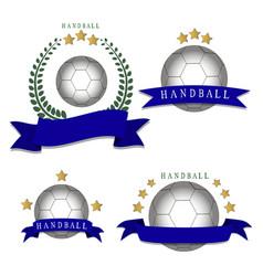 the theme handball vector image