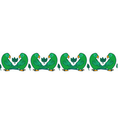 Tropical parrot border vector