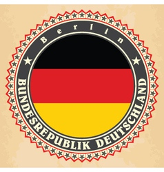 Vintage label cards of germany flag vector