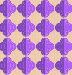 Retro fold purple striped bulbs vector image