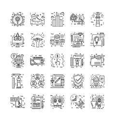 Line icons with detail 2 vector