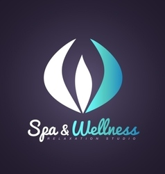 Spa wellness abstract beauty flower logo icon vector