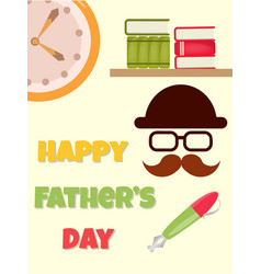 Poster happy fathers day vector