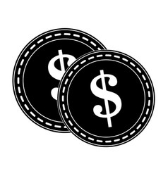 Dollar coin icon image vector