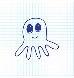 of zoology symbol on octopus vector image