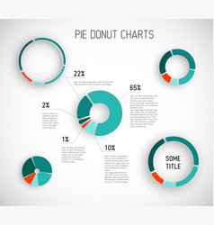 colorful pie chart templates vector image