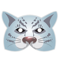 Mask snow leopard vector