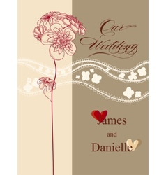 Stylish wedding invitation card file vector