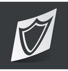 Monochrome shield sticker vector