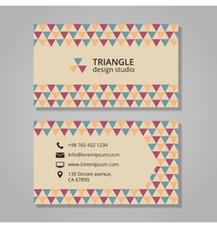 Business card with triangular background vector