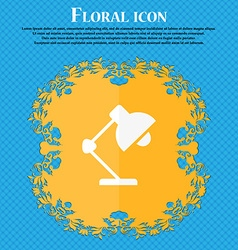 Reading-lamp and lighting illumination icon floral vector
