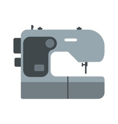 Modern sewing machine flat icon vector