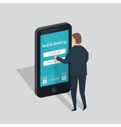 Mobile banking and payment vector