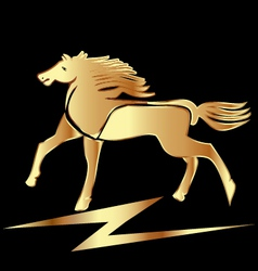Gold horse stallion vector