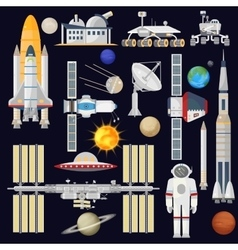 Spacecraft and space technology industry for vector