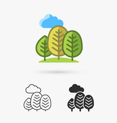 Abstract trees icon vector