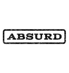 Absurd watermark stamp vector