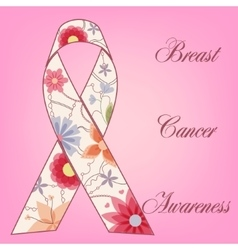 Breast cancer awareness background with painted vector image vector image