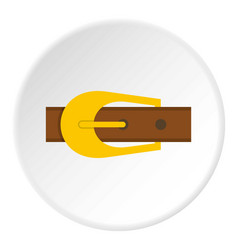 Brown belt icon circle vector